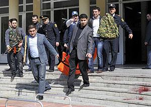 Кровавая драма в бакинском вузе. Фото