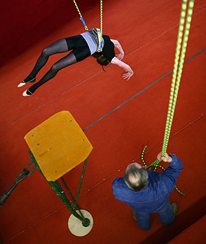 Падение воздушных гимнастов