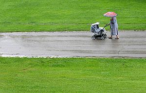 Первомай под знаком дождей