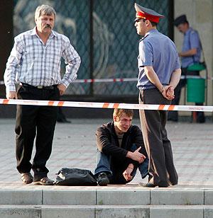 Взрыв в центре Ставрополя. Фото