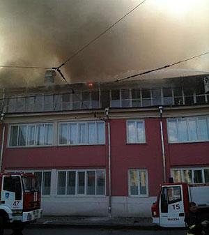 Пожар на улице Радио