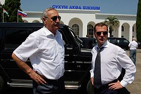 Медведев посетил Абхазию
