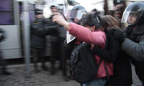 Акция на Триумфальной площади