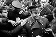 Юрий Гагарин и Валерий Быковский в Норвегии, 1964 год