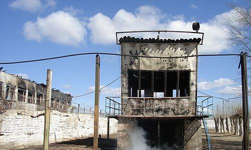 Краснокаменская колония № 10 сгорела в Забайкалье