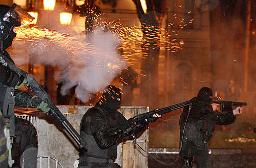 Спецоперация по разгону акции протеста в столице Грузии
