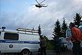 """Работа спасательных служб на месте крушения пассажирского самолета Ту-134 авиакомпании """"РусЭйр"""", совершившего аварийную посадку недалеко от взлетно-посадочной полосы аэропорта Петрозаводска."""