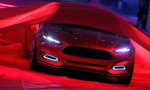 На 64-м Международном автосалоне во Франкфурте показали новый концепт-кар Ford Evos.