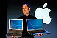 7 января 2007г. Стив Джобс на конференции Macworld сравнивает самый большой (17 inch Apple G4 Powerbook) и самый маленький (12 inch Apple G4 Powerbook) ноутбуки Apple.