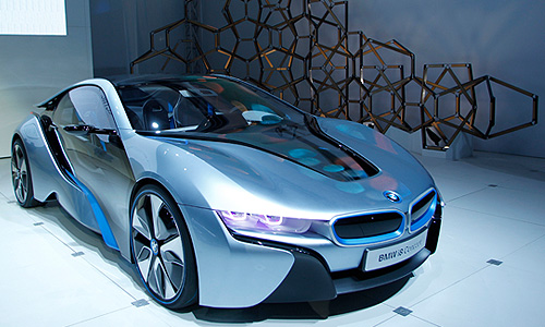 Концепт-кар BMW i8 hybrid-electric.