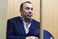 Бизнесмен Виктор Батурин, задержанный по подозрению в покушении на мошенничество в особо крупном размере, перед началом рассмотрения ходатайства об его аресте в Тверском суде.