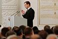 Президент указал, что считает основными достижениями своего президентства преодоление без серьезных последствий мирового финансового кризиса, становление России шестой экономикой в мире и рекордно низкую инфляцию в 2011 году.