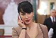 Телеведущая Тина Канделаки перед началом ежегодного послания президента России Дмитрия Медведева Федеральному Собранию РФ в Георгиевском зале Кремля.
