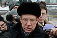 """Бывший министр финансов РФ Алексей Кудрин на митинге оппозиции """"За честные выборы"""" на проспекте Сахарова."""