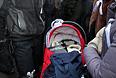 Аля, ей 2 месяца: пришла на митинг с мамой Наташей, дядей Кириллом и с бабушкой Ириной Валентиновной.