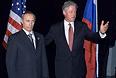 Владимир Путин и Билл Клинтон. Новая Зеландия, 1999 год.