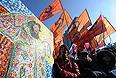 """. Во время митинга """"За честные выборы"""" на улице Новый Арбат."""