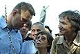 Блогер Алексей Навальный во время несанкционированной акции протеста против фальсификации результатов выборов мэра Астрахани.