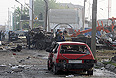 """По последним данным, в результате теракта на посту полиции в Махачкале погибли и умерли от ран 13 человек, сообщил """"Интерфаксу"""" источник в Минздраве Дагестана."""
