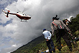Во время поисково-спасательной операции на месте крушения российского самолета Sukhoi Superjet-100.