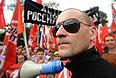 """Координатор """"Левого фронта"""" Сергей Удальцов во время шествия оппозиции """"Марш миллионов"""" от Пушкинской площади до проспекта Сахарова."""