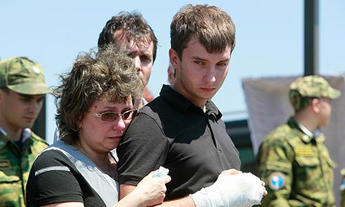 во время похорон в Крымске 2012 год