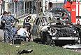 На месте покушения на муфтия республики И.Файвазова. В Казани совершено покушение на муфтия Татарстана Илдуса Файзова, его машину взорвали. Заместитель муфтия Валиулла Якупов застрелен у дверей своего дома.