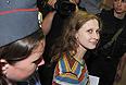 Участница Pussy Riot Мария Алехина, обвиняемая в хулиганстве в храме Христа Спасителя, перед началом заседания в Хамовническом суде.