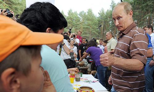Президент России Владимир Путин во вторник по традиции посетил с визитом молодежный форум на озере Селигер.