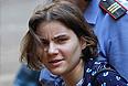 Участница Pussy Riot Екатерина Самуцевич, обвиняемая в хулиганстве в храме Христа Спасителя, перед началом рассмотрения дела в Хамовническом суде.