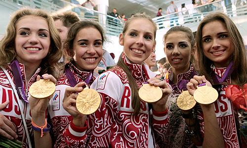 Сборная России по художественной стала первой в групповом многоборье на Олимпийских играх в Лондоне.