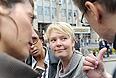 "Лидер организации ""В защиту Химкинского леса"" Евгения Чирикова во время акции ""Марш миллионов"" на проспекте Сахарова."