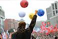 """Алексей Навальный во время выступления на акции """"Марш миллионов"""" на проспекте Сахарова."""