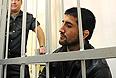 Спортсмен Расул Мирзаев, обвиняемый в смерти 19-летнего студента Ивана Агафонова, во время рассмотрения дела в Замоскворецком суде.