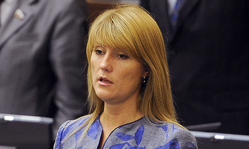 Член Комитета Совета Федерации по социальной политике Светлана Журова во время первого заседания осенней сессии Совета Федерации РФ.