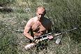 2007 год.  Владимир Путин в горах Западного Саяна.