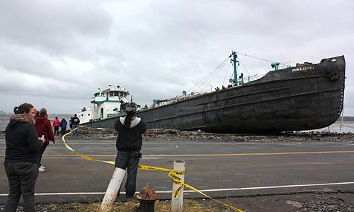 Штат Нью-Джерси сильно пострадал от стихии. Помимо Нью-Йорка частично затоплен город-казино Атлантик-Сити.