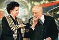 Мстислав Ростропович и Галина Вишневская в Париже. 1998г.