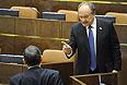 Заместитель председателя Комитета Совета Федерации по экономической политике Юрий Росляк на заключительном заседании осенней сессии Совета Федерации РФ.