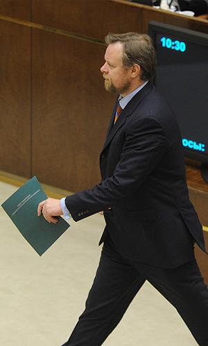 Председатель Комитета Совета Федерации по финансовым рынкам и денежному обращению, член Национального банковского совета Дмитрий Ананьев на заключительном заседании осенней сессии Совета Федерации РФ.