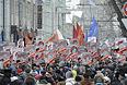 Активисты оппозиции организовали собственный подсчет численности участников акции, по их данным, она превышает 8 тысяч.