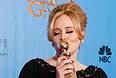 """Певица Адель получила """"Золотой глобус"""" за песню """"Скайфолл"""" для одноименного фильма."""