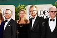 Слева направо: режиссер Джосмин Сандберг, гость, режиссер Джосмин Роннинг, писатель Питтер Скавлан, актер Паал Сверр Хаген.