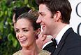 Актриса Эмили Блант с мужем Джоном Красински.