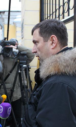 Андрей Галиакберов, пресс-секретарь московского ГУ МВД, на месте происшествия.