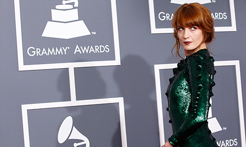 "Певица Florence Welch из группы ""Florence and the Machine""."