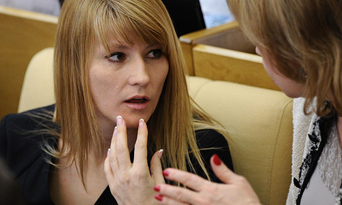 Заместитель председателя ГД РФ Светлана Журова на пленарном заседании Госдумы РФ.