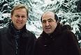 Андрей Луговой и Борис Березовский. 1998г.