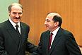 В Минске состоялась встреча исполнительнго секретаря СНГ Бориса Березовского с президентом Белоруссии Александром Лукашенко. 1998г.