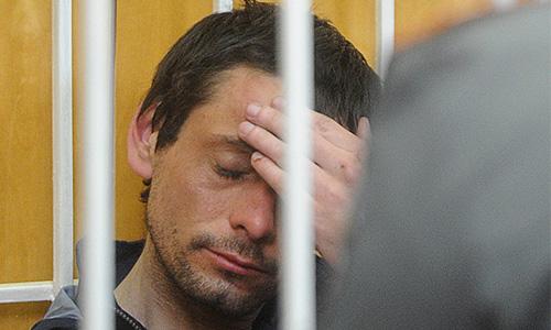 Сергей Помазун, обвиняемый в убийстве шести человек, во время заседания в Свердловском районном суде.